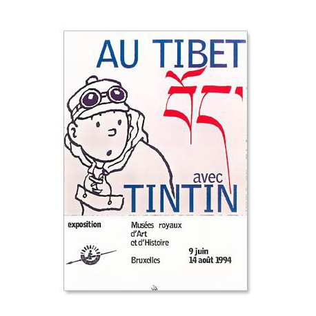 poster expo tibet 30 x 40 cm outres posters papeterie bureau loja tintin lisboa. Black Bedroom Furniture Sets. Home Design Ideas