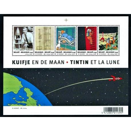Tintin et La Lune - Stamp block BELGIUM 2004