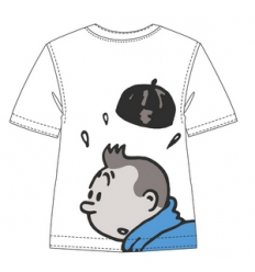 T-shirt Tintin Lotus Azul