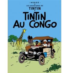 Postal Tintin au Congo