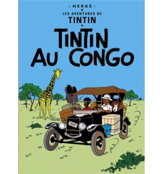 Postcard Tintin au Congo