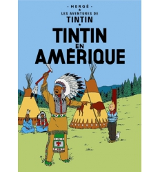 Carte Postal Tintin en Amérique