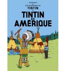 Postal Tintin en Amérique