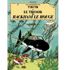 Carte Postal Le Tesor de Rackham le Rouge