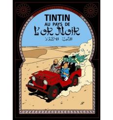 Postal Tintin au pays de l'or noir