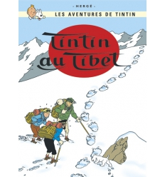 Postcard Tintin au Tibet