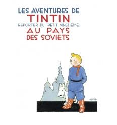 Poster Tintin au pays des Soviets (50 x 70cm)