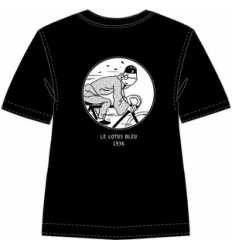 T- shirt Tintin vélos - Noir