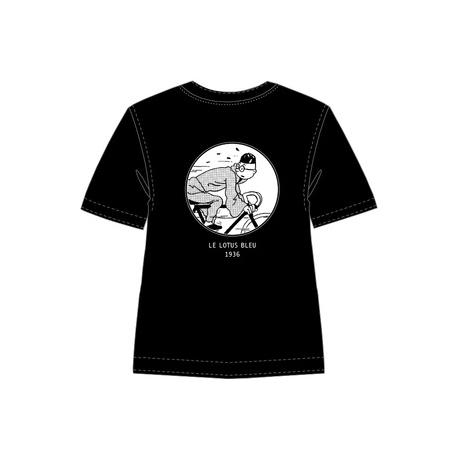 Noir T- shirt Tintin vélos