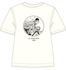 T-Shirt Tintin Bicycle Off-white