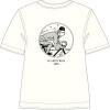 T-shirt Tintin de bicicleta - branca