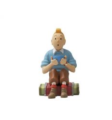 Tintin sentado - Tibet (8cm)