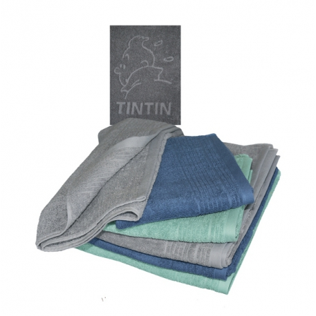 TINTIN BATH TOWEL – BLUE (SMALL)