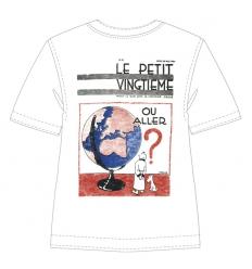 T-shirt Tintin Petit Vingtième Globe
