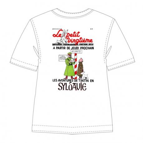 T-Shirt blanc cassé : Le petit vingtième Tintin Syldavie