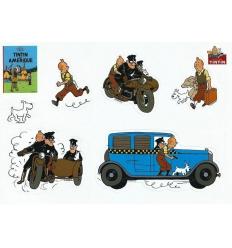 Autocollants: Tintin en Amérique