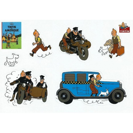 Tintin Stickers: Tintin in America