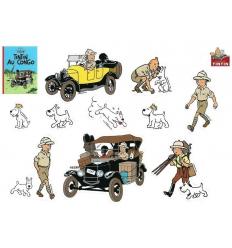 Autocollants: Tintin au Congo
