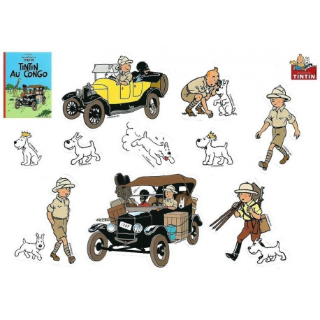 Tintin Stickers: Tintin in Congo