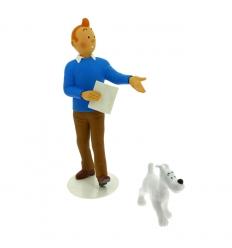 1 - Estatueta Tintin & Milou