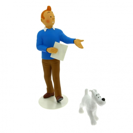 Tintin & Snowy statue