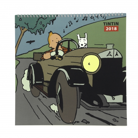 2018 Tintin calendar