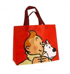 Saco reutilizável Tintin e Milou (Lona 25 x 30 x 12 cm)