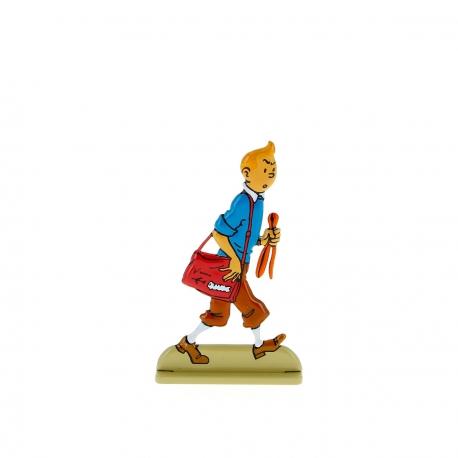 Tintin looks suspiciously