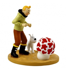 Tintin, The Shooting Star (12 cm x 12 cm x 14 cm)