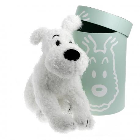 Peluche Milou - 37 cm boîte verte