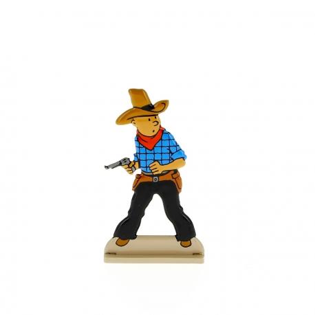 Tintin draws his gun