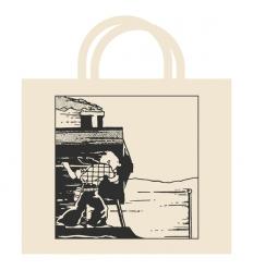 Bag cotton Tintin train