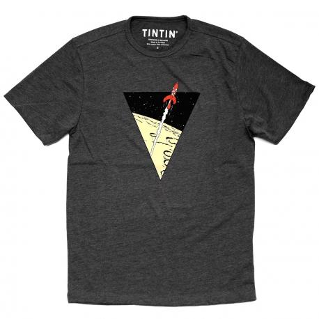 T-shirt Tintin foguetão triangulo