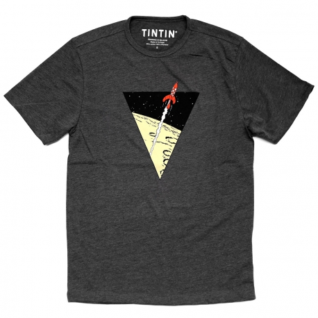 Tintin Rocket triangle t-shirt