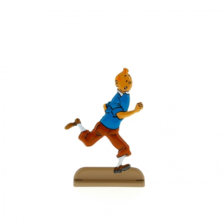 Tintin running happily