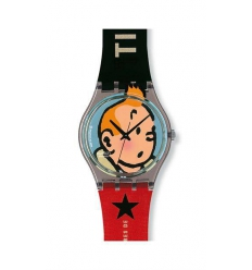 Tintin Swatch watch and Tintin magazine (Special Edition store opening Tintin Lisbon)