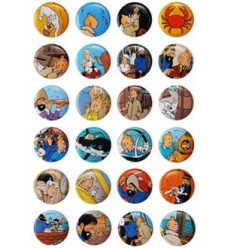 Tintin badges