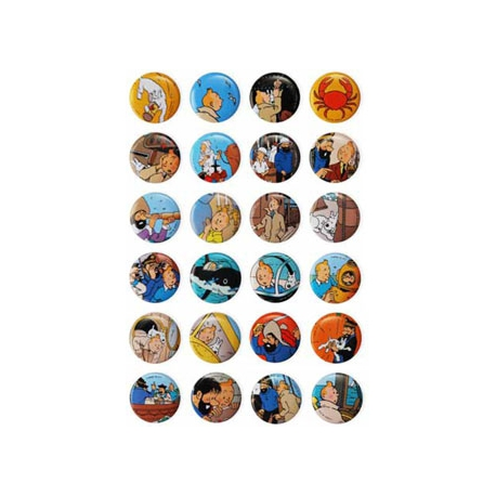 Conjunto de 24 badges