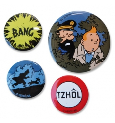 Tintin badges set 4