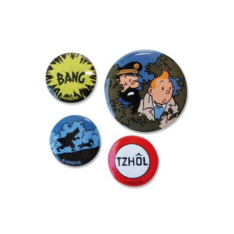 Conjunto de 4 badges