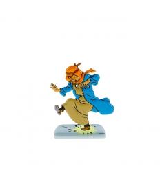 Tintin steps on a banger