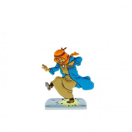 Tintin tropeça num petardo