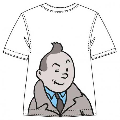 T-shirt Tintin winking