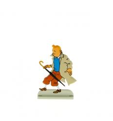 Tintin deixa cair o guarda-chuva