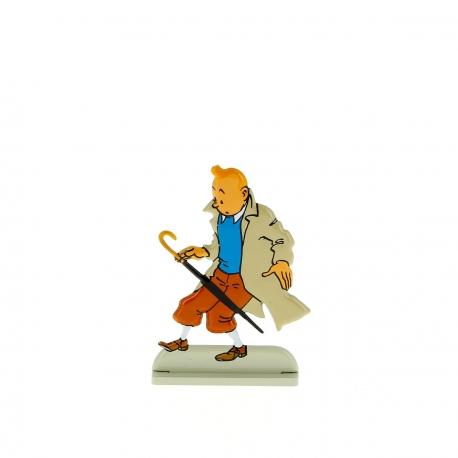 Tintin fait tomber son parapluie