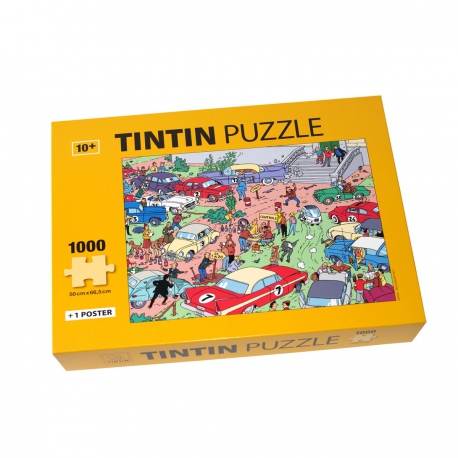 Puzzle + poster Tintin - Rallye