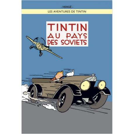 Postcard Tintin au pays de Soviets cl