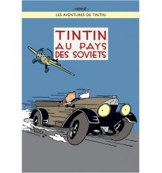 Poster Tintin au pays des Soviets color (50 x 70cm)